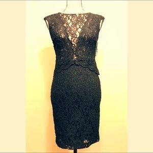 Ralph Lauren Black Full Body-Laced Dress